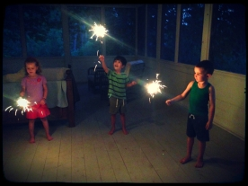 Canada Day sparklers.